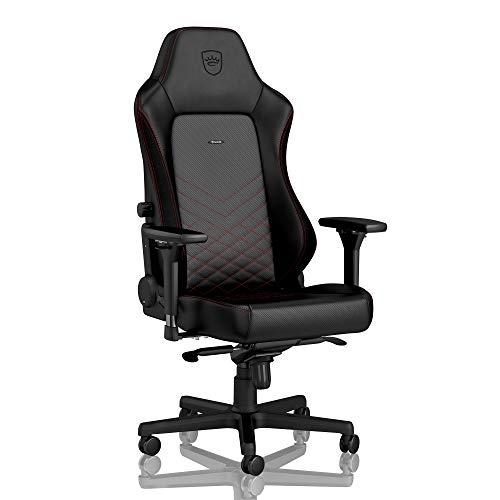 noblechairs Hero Chaise de Gaming - Chaise de Bureau - Cuir Synthétique PU - Noir/Rouge