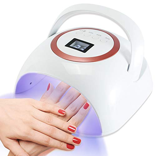 UV Led Nail Lamp Cordless UV Light for Nails 72W Rechargeable UV Nail Lamp with 3 Timer Settings UV LED Nail Dryer Portable UV LED Lamp for Gel Nails Professional Gel Nail Light Gel Nail Lamp