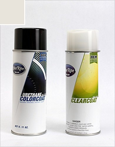 ColorRite Aerosol Automotive Touch-up Paint for Mitsubishi Galant - Dover White Pearl Clearcoat W69 - Value Package