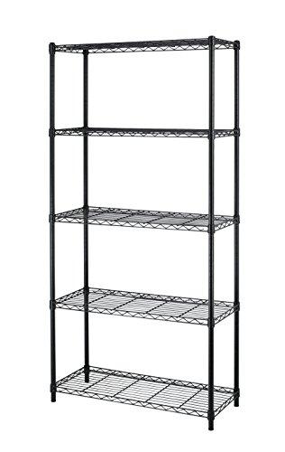 NSF Wire Shelf Metal 5 Shelf Wire Shelving Unit Garage Large...