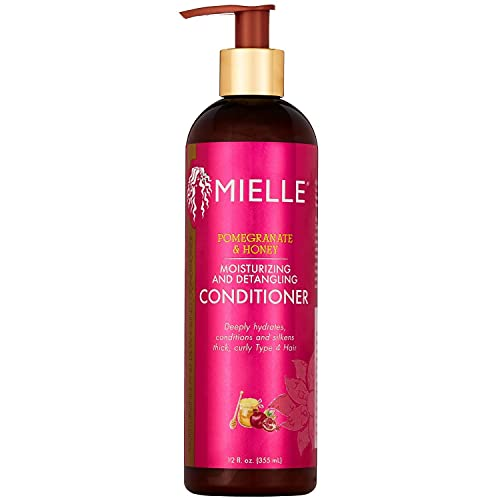 Mielle Organics Pomegranate & Honey Moisturizing and Detangling Conditioner, Deeply Hydrates Curly Type 4 Hair, 12 Ounces