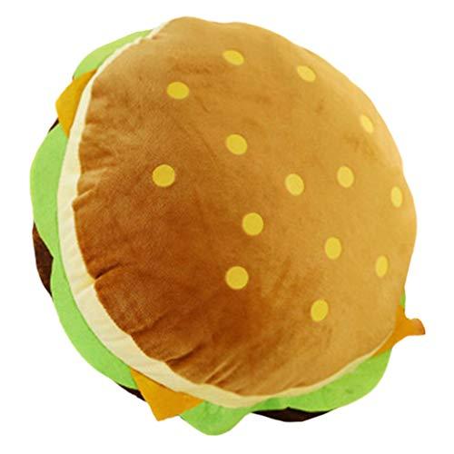 VOSAREA Cuscino da tiro Morbido a Forma di Hamburger Cuscino Lombare Divano Schienale Cuscino...