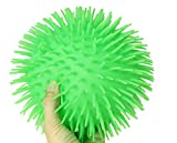 Curious Minds Busy Bags Solid Color Jumbo 9' Puffer Ball - Sensory Fidget and Stress Balls - OT Autism SPD (Random Color)