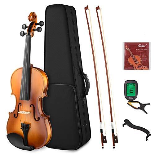 Eastar EVA-330 4/4 バイオリン 単板 ソリッド 弓2本 初心者にも上級のバイオリン奏者にも 【5,280円~!】安いヴァイオリン特集!バイオリンが1万円以下から買える!安いので始めてみたい・初心者にオススメ!【アコースティック・エレキヴァイオリン】