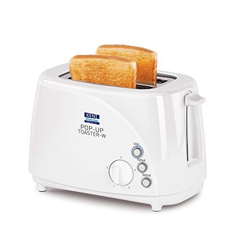 KENT 16031 700 Watt 2-Slice Pop-Up Toaster, White