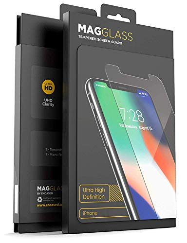 magglass iPhone 11/iPhone XR Full Screen Protector (Shatterproof) Case Compatible Tempered Glass Full Adhesive Glue Edge to Edge Coverage Phone Screen Guard