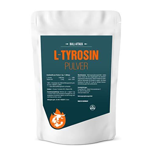 L-TYROSIN PULVER   250g Pulver   L-Tyrosin + Vitamin B6   Muskelaufbau + Gehirnleistung   Top Qualität (250g)