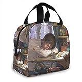 shenguang Bolsa de almuerzo para adolescente durmiente Tote Reutilizable Picnic Lunch Cooler Bag Viaje Trabajo Playa Navegación Fiambrera portátil para mujeres/hombre/Picnic/Navegación