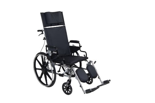 Viper Plus GT Full Reclining Wheelchair, Detachable Desk Arms, 18' Seat