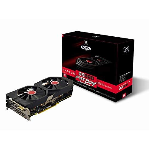 XFX RX-590P8DFD6, Tarjeta Gráfica, Radeon RX 590, Tamaño Único, Negro