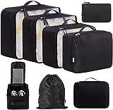 Eono by Amazon - 8 Set Cubos de Embalaje, Organizadores para Maletas, Travel Packing Cubes, Equipaje...