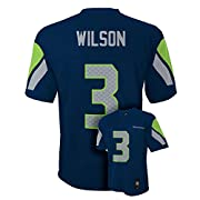 Player Number on Front Wilson Name and #3 Number on Back Bold Screen Print Graphics Team Colors 100% Polyester