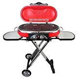 Mototeks, Inc. Portable BBQ Grill Propane Matchless Lighting Foldable CART for Camping Outdoor (Red)