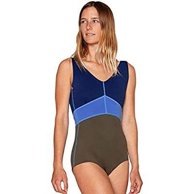 Material: 80% polyester, 20% spandex Style: one-piece Coverage: full UPF Rating: 30+ Recommended Use: beachwear, flatwater paddling, ocean paddling, river paddling, surfing, swimming