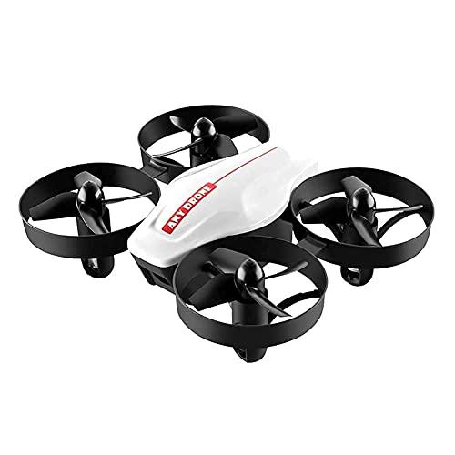 Mini Drone Nano Rc Pieghevole per Regalo per Bambini Quadcopter Tascabile Portatile con Una Chiave di decollo/atterraggio, Facile da pilotare per Principianti Bianco