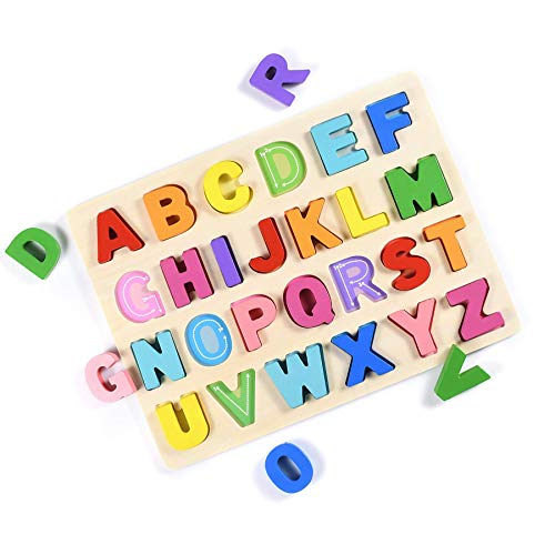T Leaves Alphabet Puzzles, ABC Wooden Puzzles Board for...