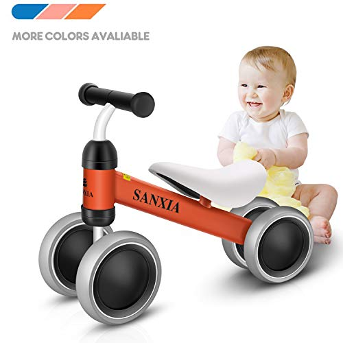 Baby Balance Bike,Toddler Bicycle Children Walker for 10-24 Months, Baby Walker Toys Rides for Boys Girls No Pedal Bikes for Baby Birthday Gift (Orange)