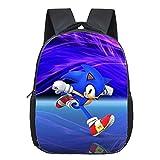 LIJIA Bolsa de Sonic Super Sonic Shadow Mochila Niños Escuela Bolsas Niños Niñas Mochila De Jardín De Infantes Primaria Dibujos Animados Mario Yoshi Imprimir Bolsas Pequeñas