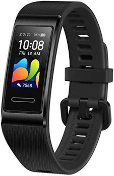 """HUAWEI Band 4 Pro - Bracelet Connecté Fitness avec Écran Tactile AMOLED de 0.95"""", Capteur de Fréquence Cardiaque Continu 24/7, GPS Intégré, Étanchéité 5ATM, Noir"""