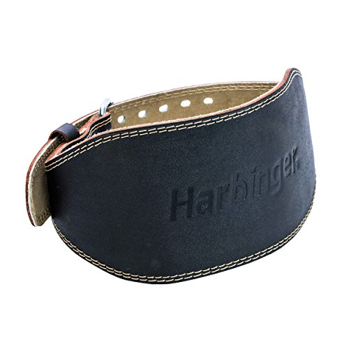 4. Harbinger Padded Leather Contoured Weightlifting Belt