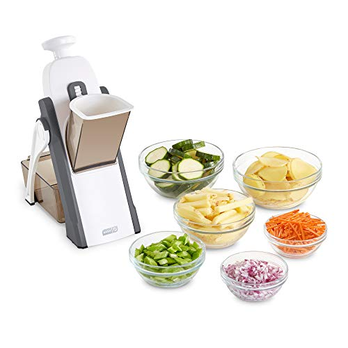 DASH DSM100GBGY04 Safe Slice Mandoline for Vegetables, Meal Prep & More with Thickness Adjuster, Size, Grey
