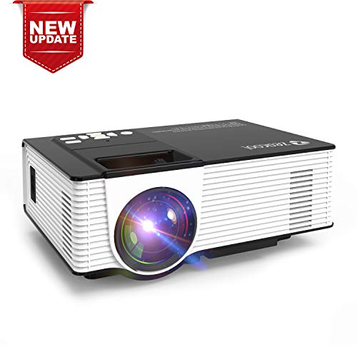 Zeacool Video Projector, Newest Upgrade 2400 Lux LED Portable Home Theater Projector with 1080P Support, Compatible with Fire TV Stick, PS4, Smart Phone, PC & More for Movies, TV and Gaming