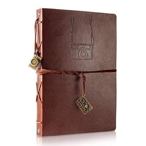 ThxMadam Album Scrapbooking, Voyage Album Photo en Cuir Vintage Bricolage...