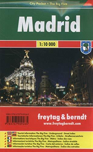 Madrid, plano callejero plastificado de bolsillo. Escala 1:10.000. Freytag & Berndt.: Stadskaart 1:1
