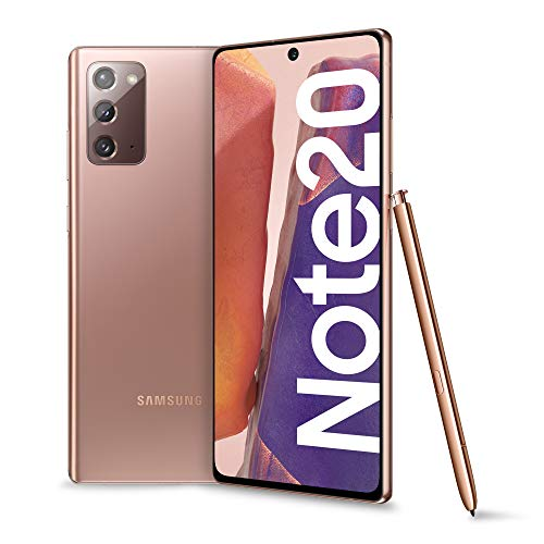Samsung Galaxy Note20 Smartphone, Display 6.7' Super Amoled Plus Fhd+, 3 Fotocamere Posteriori, 256Gb, Ram 8Gb, Batteria 4300 Mah, Dual Sim + Esim, Android 10, Mystic Bronze [Versione Italiana]