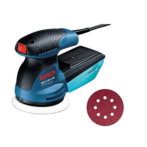 Bosch Professional GEX 125-1 AE Ponceuse Excentrique GEX 125-1 AE (Plateau de Ponçage Diamètre 125 mm, 250 W)
