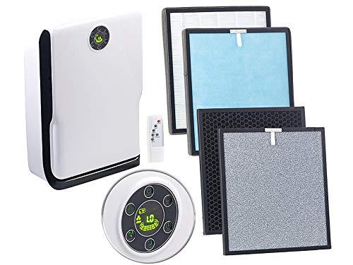 Sichler Haushaltsgeräte Luftreiniger UV Licht: 6-Stufen-Luftreiniger mit UV, Ionisator, WLAN & App, Alexa-kompatibel (Rauchfresser)
