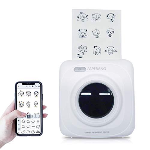 Mini stampante termica wireless tascabile, stampante portatile per etichetta/codice QR/foto con...