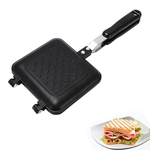 Doppelseitige Bratpfanne, Faltbare Grillpfanne, Camping Sandwich Toaster Grill Pfanne Passend Für Heim Kochen Toasties, Frühstück Drinnen & Draußen