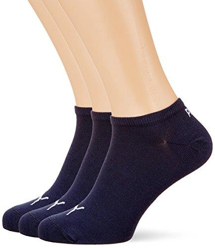 PUMA Sneaker Plain 3p Calze sportive, Blu Navy, 39/42 (Pacco da 3) Unisex  Adulto