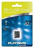 Platinum Mini USB Clé USB 32 Go Noir