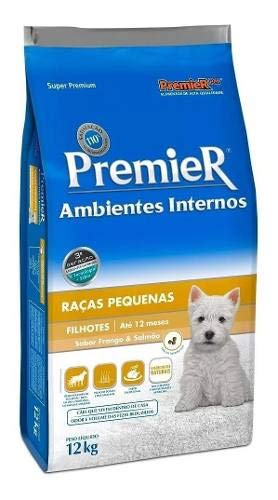 Ração Premier Ambientes Internos Cães Filhotes 12kg