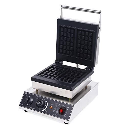 1500W 220V kommerzieller Waffeleisen für 2 Waffeln, 50-300°C Antihaft elektrische Waffelmaschine