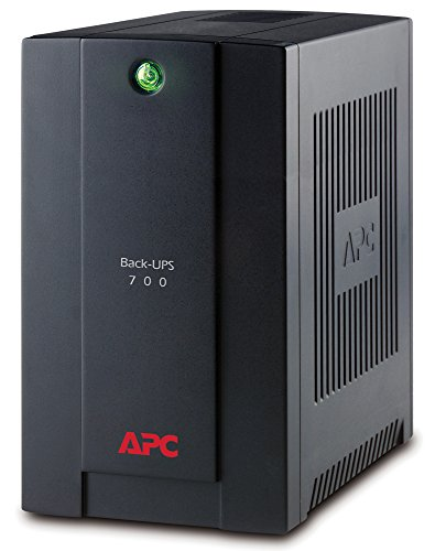 APC Back-UPS BX - BX700UI - Fuente de alimentación ininterrumpida (UPS) de 700 VA (AVR, 4 salidas IEC-C13, USB, software de apagado)