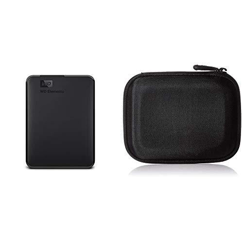 WD Elements Portable, Externe Festplatte - 3 TB - USB 3.0 - WDBU6Y0030BBK-WESN & Amazon Basics Festplattentasche, schwarz