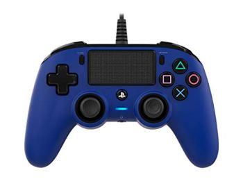 Nacon Manette Filaire Compacte Pour Playstation 4 - Accessoires de Jeux Vidéo (Manette de Jeu, Playstation 4, Share, Avec Fil, Bleu, 3 M)