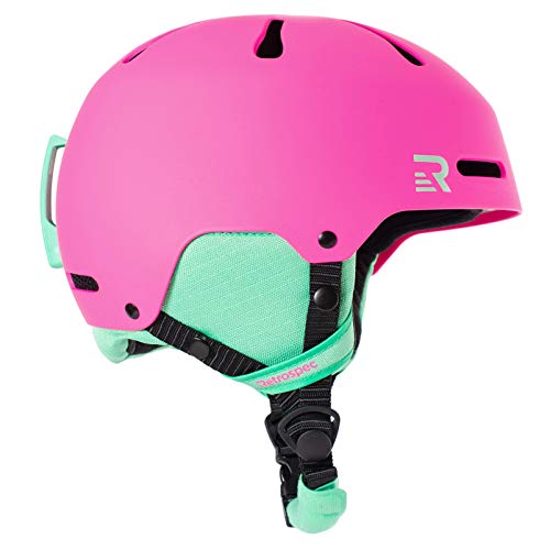 Retrospec Traverse H3 Youth Ski & Snowboard Helmet, Matte Magenta, X-Small (48-51.5cm)