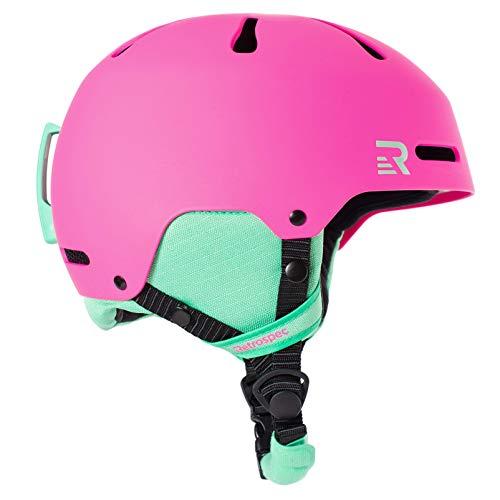 Retrospec Traverse H3 Youth Ski & Snowboard Helmet, Matte Magenta, X-Small (48-51.5cm)