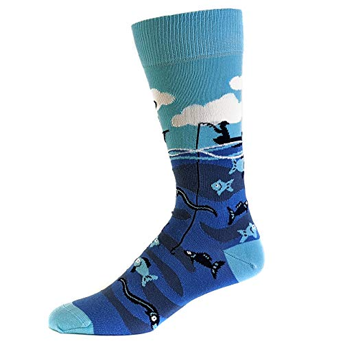 Eat Sleep Fish Socks Funny Cool Novelty Fathers Day Fishing Crazy Gift Idea