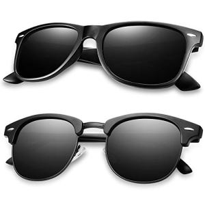 Polarized Sunglasses for Men and Women HD Vision Lens with Advanced Composite Coating UV Protection Retro Sun Glasses
