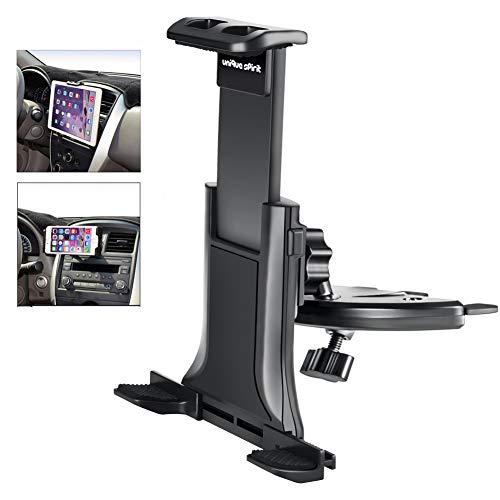 Unique Spirit タブレット スマホ 車載ホルダー cdスロット式 360度角度調整可 着脱簡単 落下防止 ナビスタ...