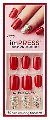 "KISS imPRESS""TWEETHEART"" Short Nails by Broadway Press-On Manicure Nails"