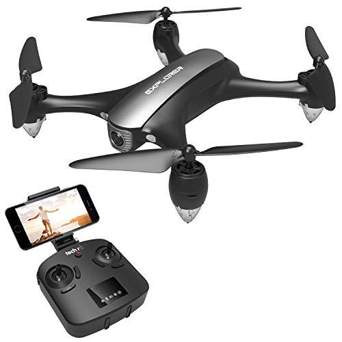 tech rc Drone GPS Videocamera 1080P WiFi 5G 120  FOV Live Video, Ritorno Automatico a Bassa Potenza e modalit Seguimi e Volo Circondare , modalit Senza Testa, Un Pulsante di Decollo/Atteraggio