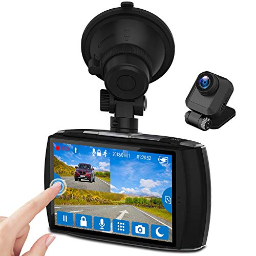 Z-Edge Dash Cam Front and Rear 4.0' Touch Screen Dual...
