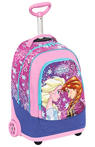 Big Trolley Disney Frozen Ice Magic, 30 Lt, Rosa, 2in1 Zaino con Spallacci a Scomparsa, Scuola &...