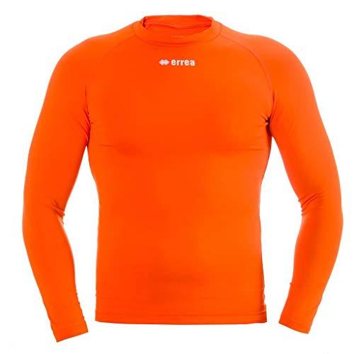 ERMES AD Funktionsshirt (langarm) von Erreà · ERWACHSENE Damen Herren Sport Unterziehshirt (lang) aus Polyester · BASIC Slim-Fit Shirt (elastisch) für Teamsport · BASELAYER Kompressionsshirt (endotherm) geringe Kompression (Farbe orange, Größe S/M)